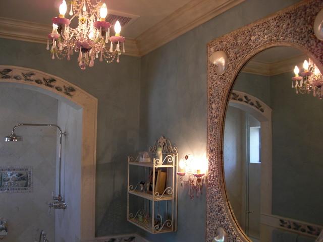 Girl 39 s bathroom venetian plaster contemporary bathroom for Venetian plaster bathroom ideas
