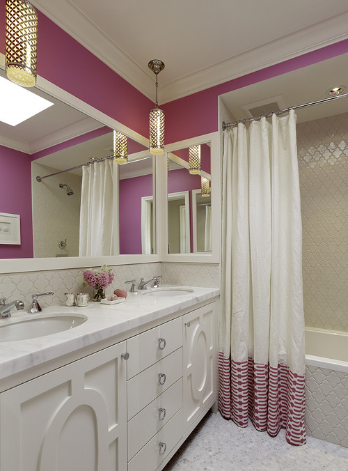 The granite gurus faq friday how should i use pink in a for Teen bathroom pictures