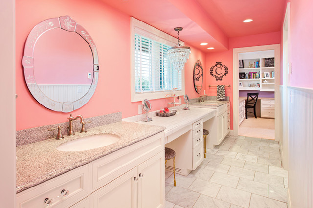 Girls jack jill bath - Jack and jill style bathroom ...