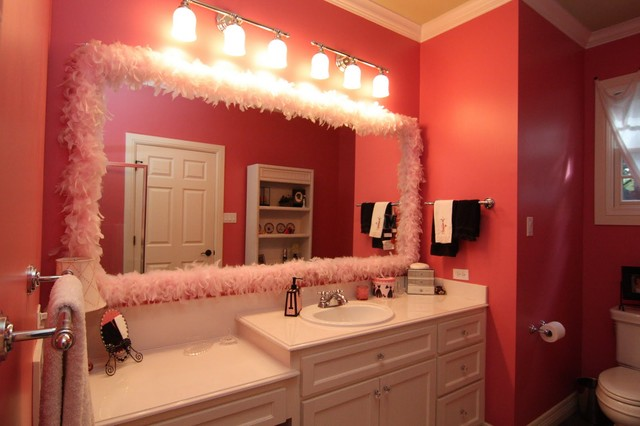 girly bathroom remodel contemporary bathroom