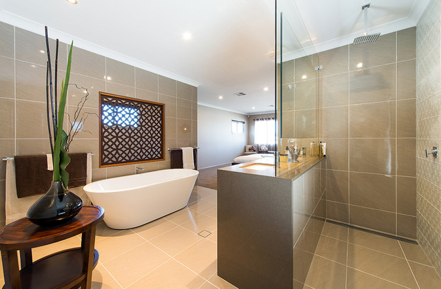 GJ Gardner Display Home North Lakes Contemporary Bathroom