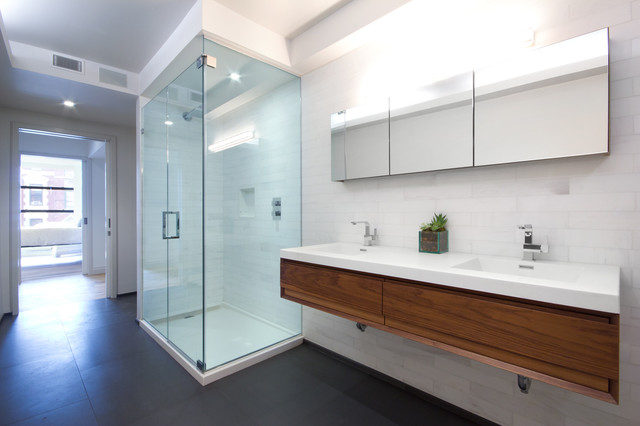 Glam bathroom contemporary bathroom new york by for Bathroom designs usa
