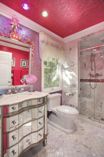 Glam Dance Studio Contemporary Bathroom Los Angeles