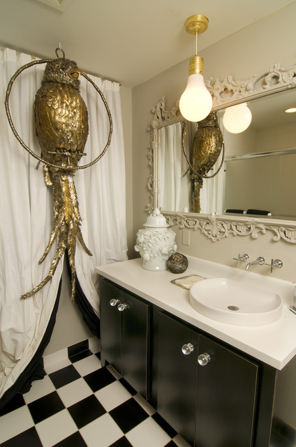 Glam Pop Art Eclectic Bathroom Minneapolis By