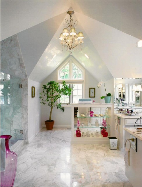 Glamorous Bath traditional-bathroom
