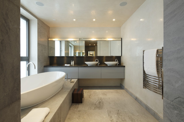 Glamorous modern bathroom modern bathroom london by adrienne chinn design Bathroom design company london
