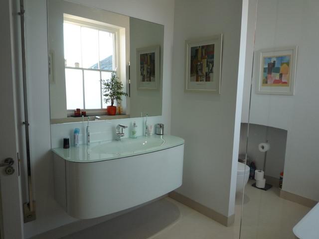 glass bathroom sink modern-bathroom