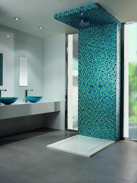 Glass contemporary-bathroom