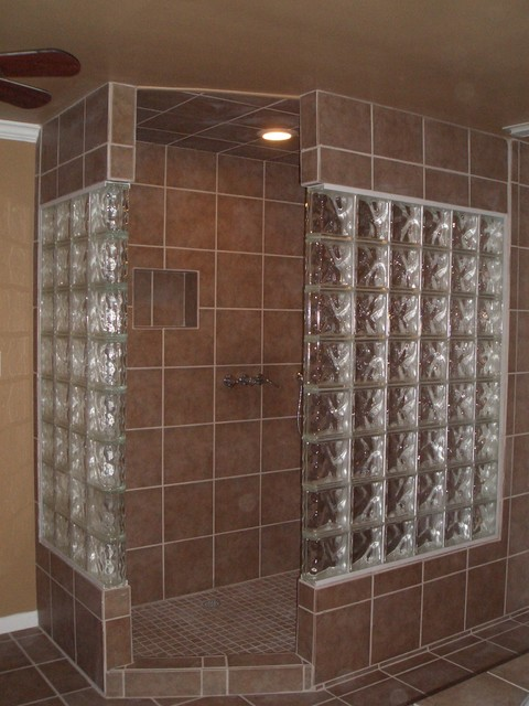 Glass Block Bathroom Bathroom Other Metro By Lone Star Remodeling And Renovations