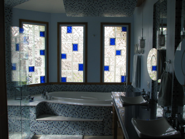 Glass Block Bathroom Windows Modern Bathroom