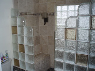 how to tile a kitchen floor on concrete glass block shower contemporary bathroom detroit 9838