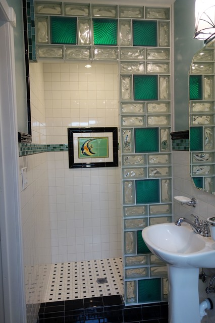 Glass Block Shower Contemporary Bathroom Cleveland By Innovate Building Solutions