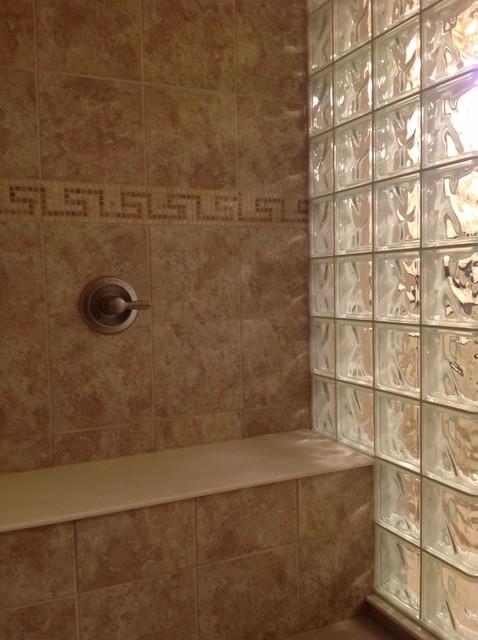 Glass Block Shower Wall Dublin Ohio Mediterranean