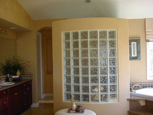 Glass block shower wall - Glass bricks designs walls ...