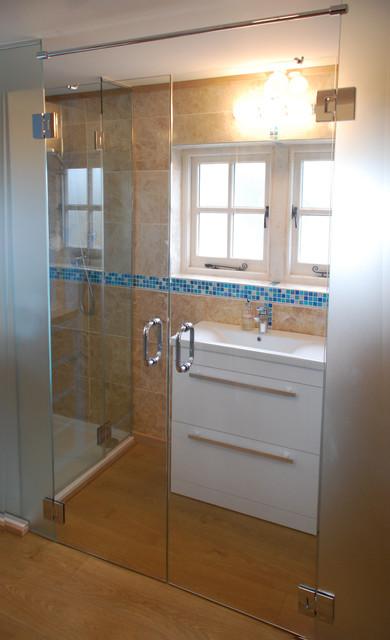 Glass En Suite Wissington Contemporary Bathroom East Anglia By Kent Blaxill