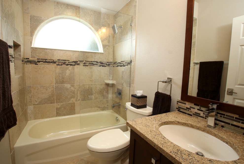 Glass Enclosure Guest Bath // Bradenton - Transitional ...