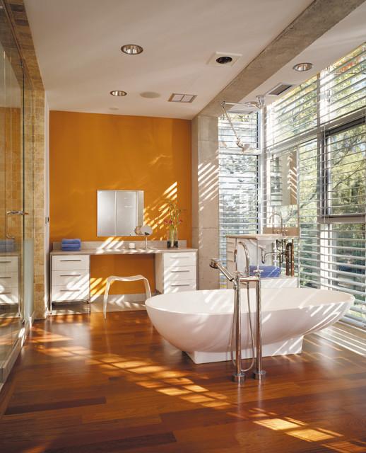 Glass House industrial-bathroom