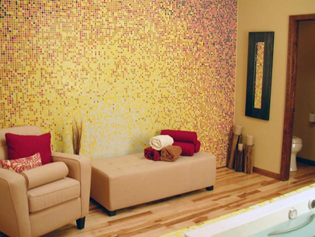 Glass Mosaic Tile Gradient - Rising Sun Bathroom