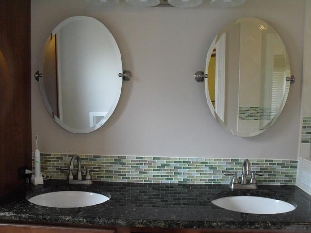 Glass Prose Tile traditional-bathroom