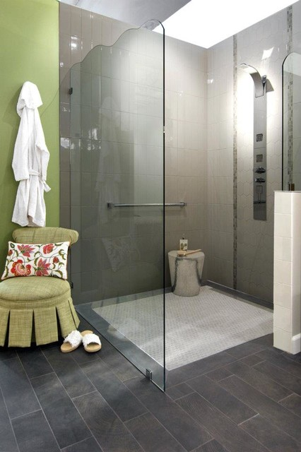 Bathroom Partition Panels Interior glass screens, partitions, single glass panels - contemporary