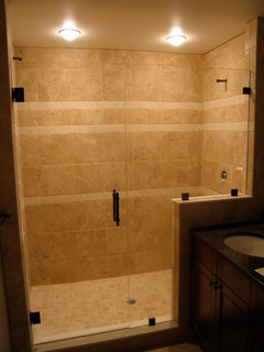 Glass Shower Doors - Traditional - Bathroom - New York - by Anderson Glass Llc