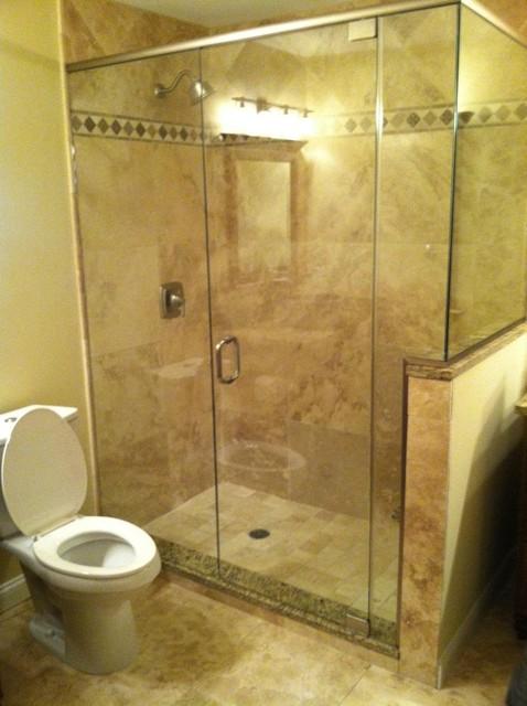 Glass Shower Enclosures Traditional Bathroom