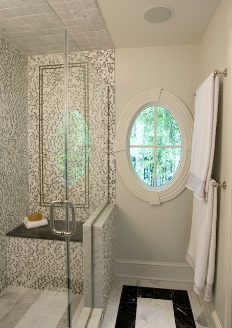 Gl Shower Stall Traditional Bathroom