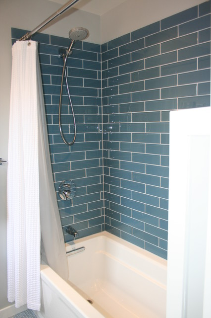 Glass Shower Wall Tile modern-bathroom
