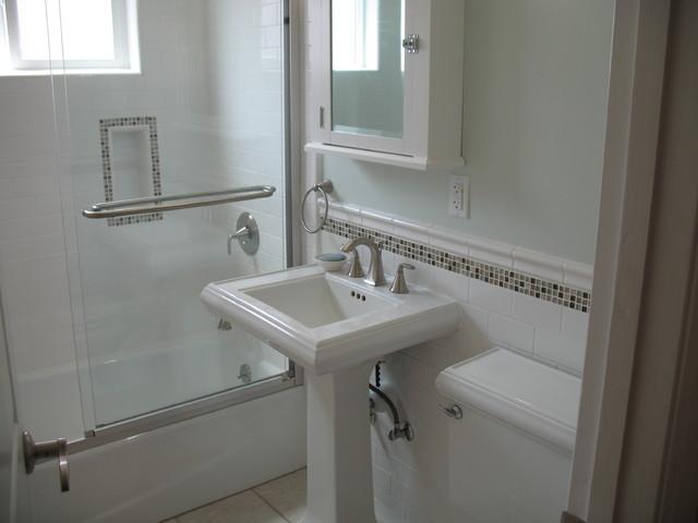 Pedestal Sink Backsplash Sink Ideas
