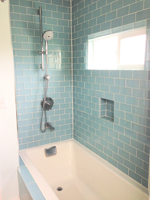 Interesting Bathroom Glass Subway Tile Gray Shower Brick Pattern
