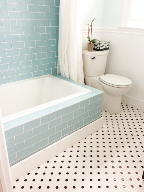 Glass Subway Tile Bathrooms By Contemporary Bathroom