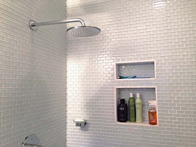 Glass Subway Tile Bathrooms By Subwaytileoutlet Modern Bathroom