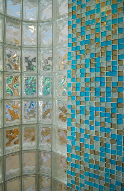 Glass Tile Bath eclectic-bathroom