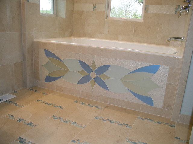 Glass Tile Bath Tub - modern - bathroom - san francisco - by Marin ...