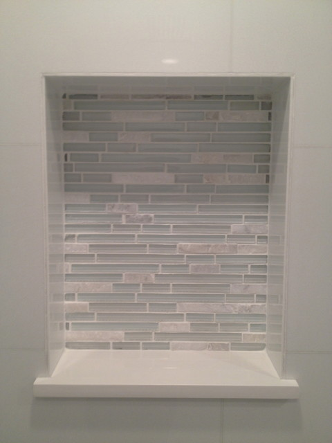 Glass Tile Shower Contemporary Bathroom Miami By