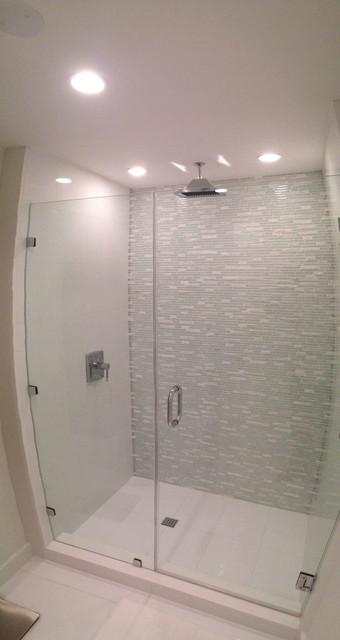 Glass Tile Shower Contemporary Bathroom Miami By Sybaris