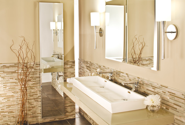 Cabinet transitional bathroom new york by glasscrafters inc