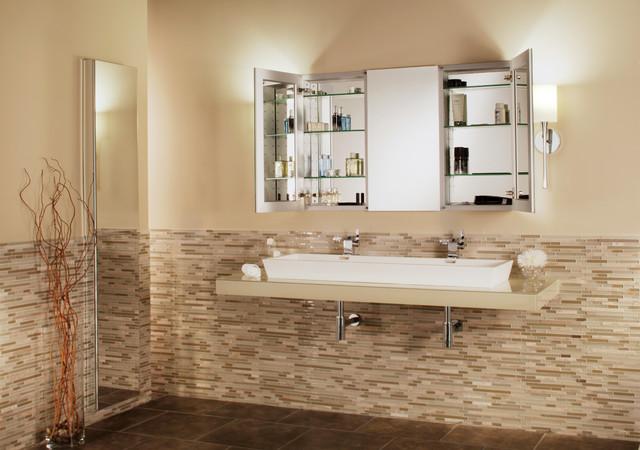 Delicieux GlassCraftersu0027 Tri View Mirrored Medicine Cabinet
