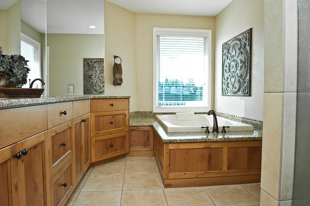 Glazed Alder Vanity - Traditional - Bathroom - Boise - by ...