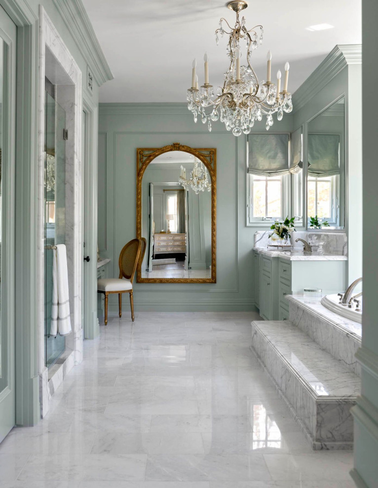 Gleaneagles - French Country - Bathroom - Orange County ...