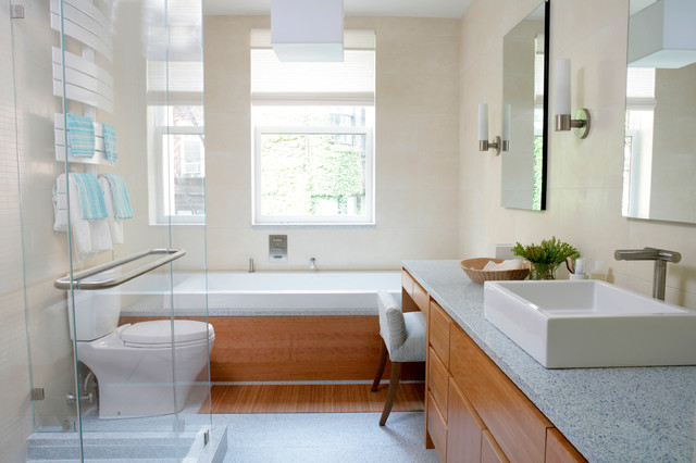 Gleicher 39 s eco friendly townhouse for Townhouse bathroom designs