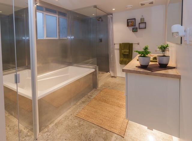 glenmore legal basement suite contemporary bathroom