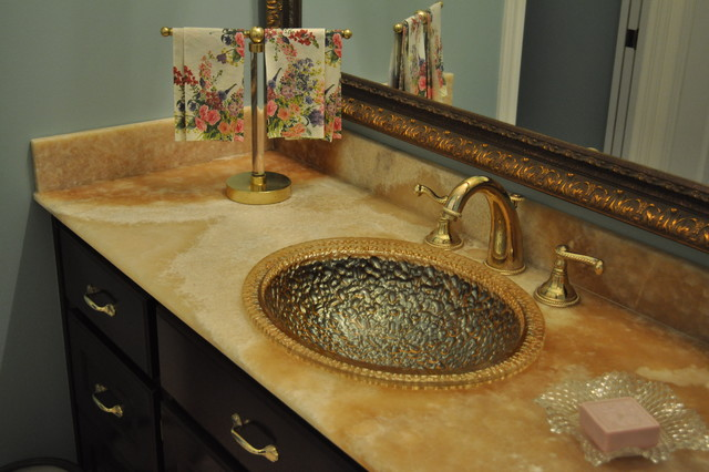 Glowing Onyx Vanities Traditional Bathroom Miami