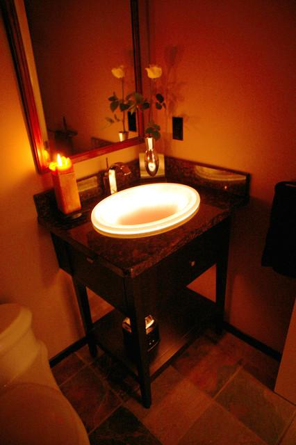 Glowing zen bathroom sink classique chic salle de bain - Salle de bain classique chic ...