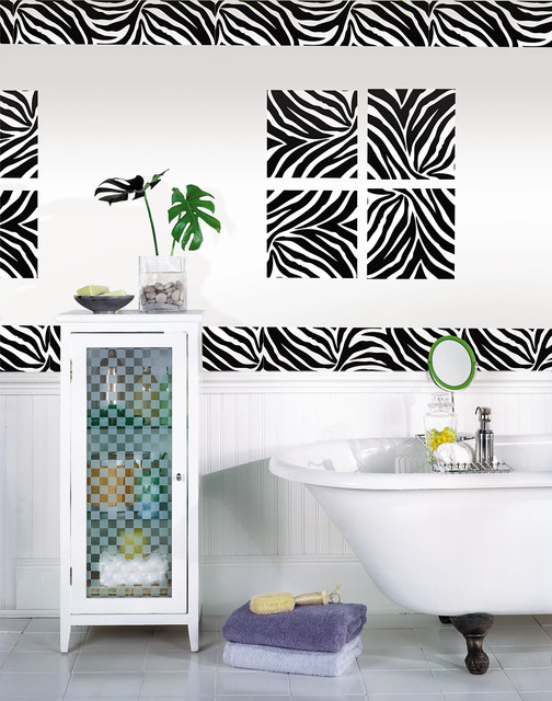 Zebra Print Bathroom Wall Decor : Go wild with zebra print wall art in the bathroom by