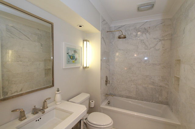 Traditional Marble Bathrooms gold coast vintage marble bathroom - traditional - bathroom