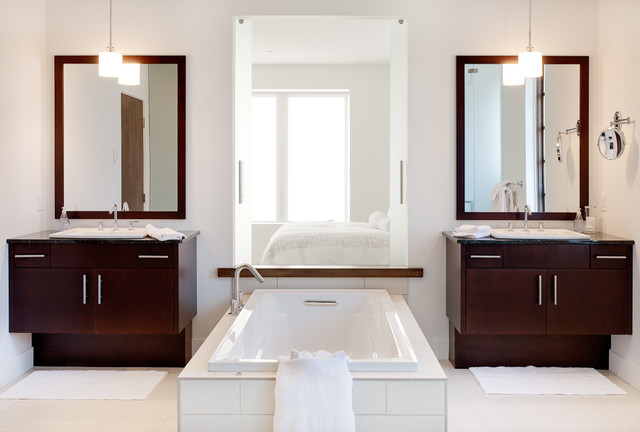 Rasberry contemporary-bathroom