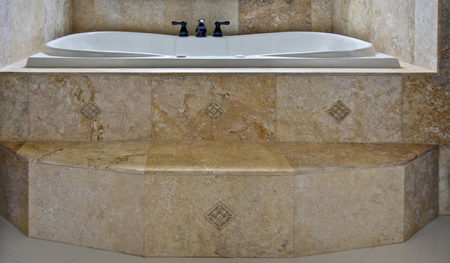 Travertine Tiles Traditional Bathroom Tampa By Stone Mart