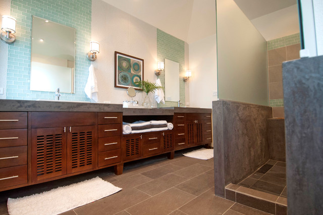 Golf Course Residence Contemporary Bathroom Other