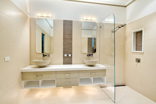 Gordon St Balwyn Contemporary Bathroom Melbourne By Bubbles Bathrooms